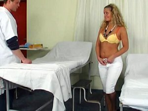 Blonde fucked by her doctor