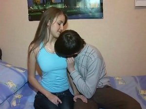 Sweet amateur teens caught fucking