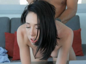 Hanna fucked for the first time on camera