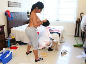 Cuban maid with a bubble butt gets fucked