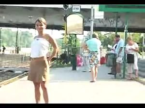 Really sexy chick flashing in public