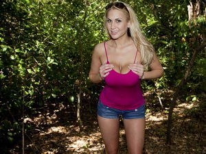 Alanah Rae in the woods