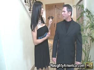 Sexy Latina MILF with huge tits gets rocked