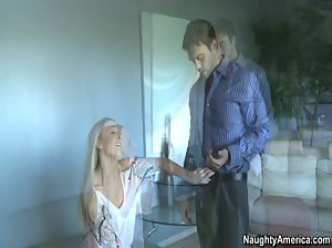 Sassy blonde Tristyn Kennedy sucks dick and gets fucked like a good girl.
