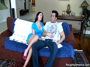 Sophie Dee rides a big cock and takes a hot load!