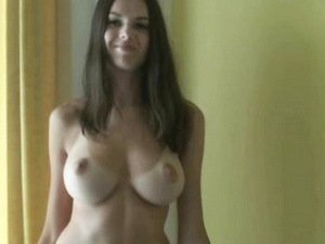 Amazing brunette with a perfect body
