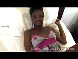 Real Amateur Ebony Teen in 1st Time Video