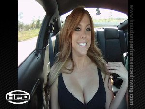 Gisele in a Mustang Turbo - Part 1