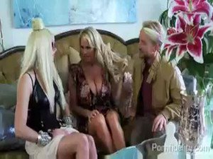 Lexi Belle as Lady Gaga and Kelly Madison in a threesome