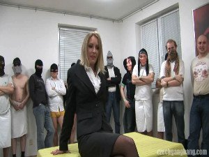 Gangbang time for a married MILF
