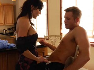 Cougar Kendra Lust fucked in the kitchen