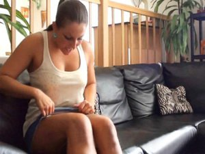 Czech Amateurs - Litlle brunette bitch shows her obsession