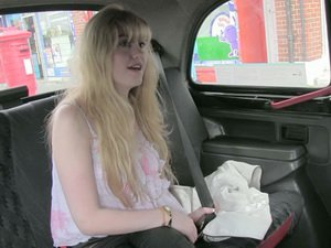 Busty euro amateur gets rammed in taxi