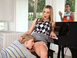 Stepmom Tanya gets a hot threesome fuck