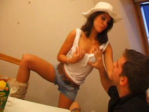 Nice brunette fucked in boots
