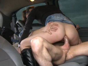 Anal sex in a car
