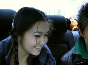 Asian girl gets banged in the car