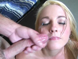 Ashley Stone face covered in cum