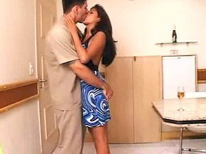 Hot Latina in a sexy dress fucked hard