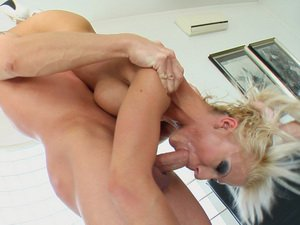 Stella's a milkmaid hungry for these two guys' cum