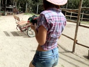 Hot auburn cowgirl Tina Hot