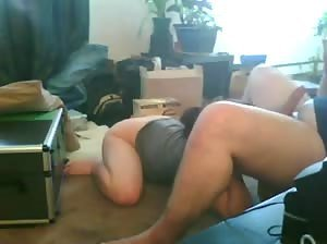 Cute and kinky girlfriend giving an awesome rimjob