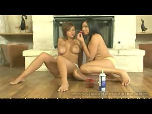 Cierra and Layla get naughty with some whipped cream