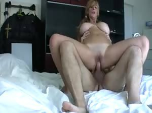 Spanish blonde with big natural tits in a threesome - part 2