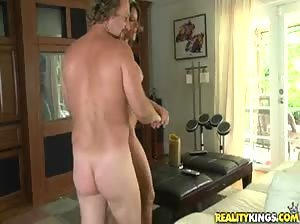 Aweome MILF with big tits rides cock