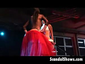 Hot girls on stage