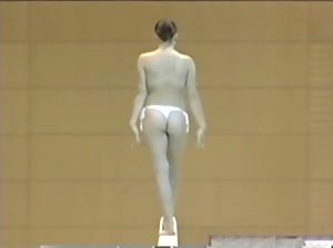 Last video of the sexy topless gymnasts from Romania