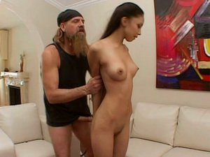 Brutal hairy stud stretches Alexis Love's mouth