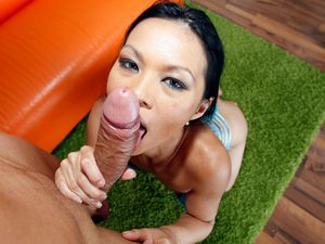 Asian cutie fucked by a monstercock