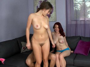 Natural big tit babes Lily Love and Jessica Robbin