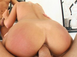 Natalie loves her pussy pounded and swallows it up