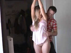 Blonde MILF Hanka is tied up and fondled