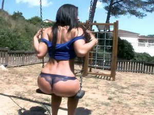 Asstastic Athina fucked on a public play yard