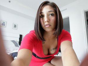 Latina chick in red Stefania Mafra takes it from behind
