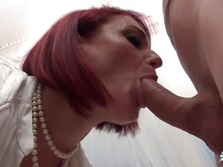 La Cochonne - Amateur French redhead in dirty anal fuck