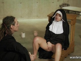 Naughty Nun fucked deep by Priest for kinky sex games