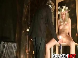 Blonde teen submissive loves BDSM