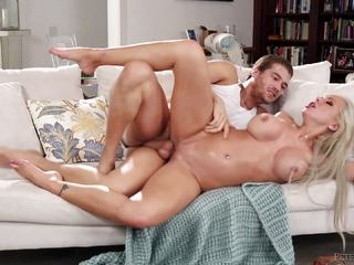 Naughty Stepmom NIna Elle plays with her stepson