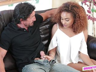 Nami Dahlia enjoy riding her friends dads massive cock