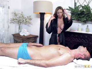 Masseuse Subil Arch pussy thrashed balls deep by Kieran Lee