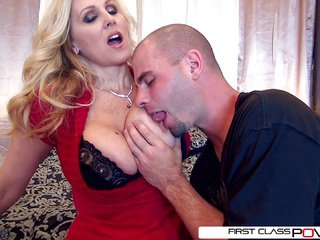 Julia's husband watch her getting pounded by other men