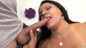 Mature Leylani Wood Bounces on Hard Cock