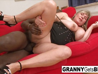 Mature BBW is ready for that big black pole