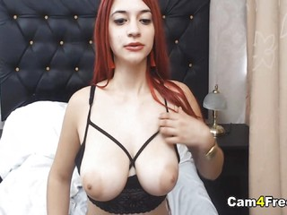 Hot Busty Chick Playing Her Pussy