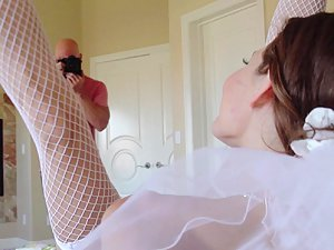 Cheating bride Jenni Lee dirty wedding day fuck