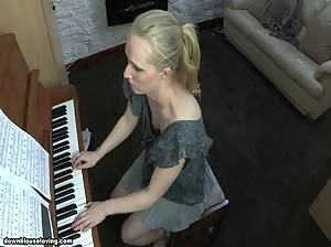 Toni learns to play piano